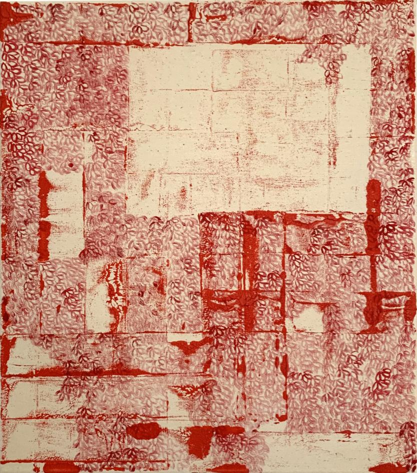 acrylic on canvas (42 x 37), 2021